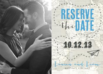 paper airplane Save the Date Cards