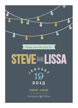Bright Lights Save the Date Cards
