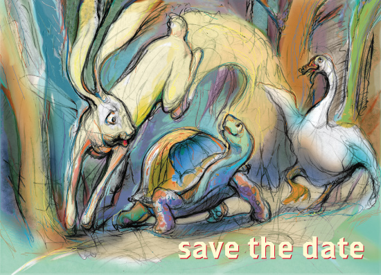 save the date cards - The wabbit by Lance Jackson