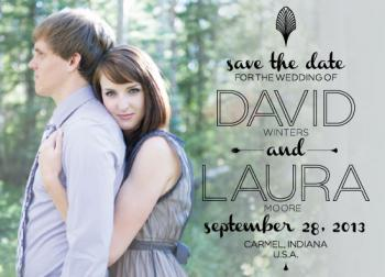 Art Deco Inspired Save the Date Cards