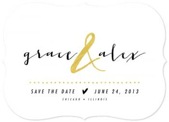 all that glitters Save the Date Cards