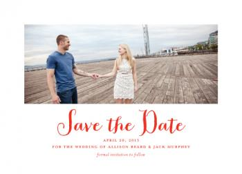 Penmanship Save the Date Cards
