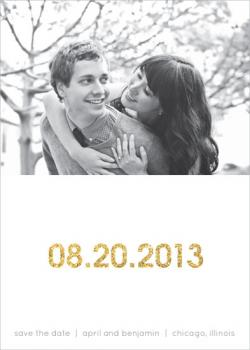 Glittering Date Save the Date Cards