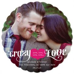 Crazy Love Save the Date Cards