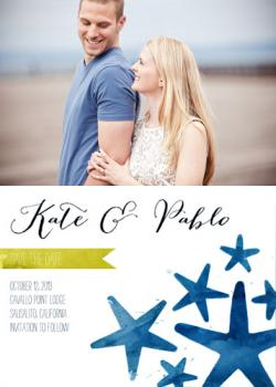Shoreline Photo Save the Date Cards