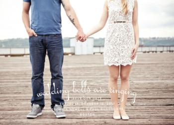 Wedding Bells Save the Date Cards