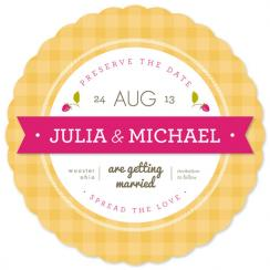 jam jar Save the Date Cards