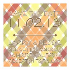 Crisscross Square Design Save the Date Cards