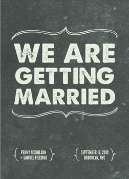 Your Wedding as a Film Save the Date Cards