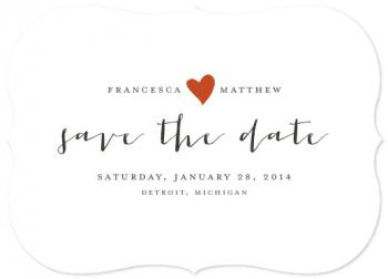 Baguette Save the Date Cards