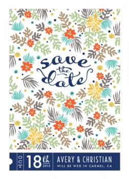 Succulent Field Save the Date Cards
