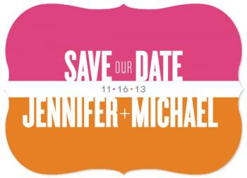 Color Block Save the Date Cards