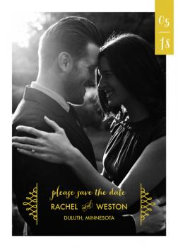 Ribbon Date Save the Date Cards