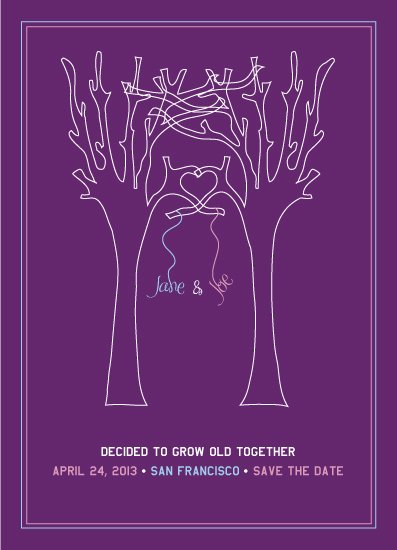 save the date cards - grow old together by little dirigible