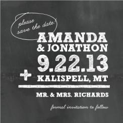 arithmetic Save the Date Cards