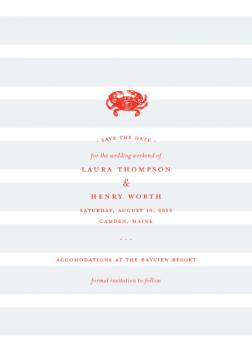 crab shack Save the Date Cards