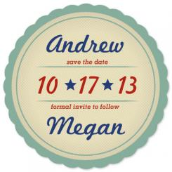 Vintage Label Save the Date Cards