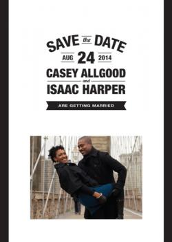simply stacked Save the Date Cards