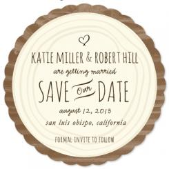 woodcarving Save the Date Cards