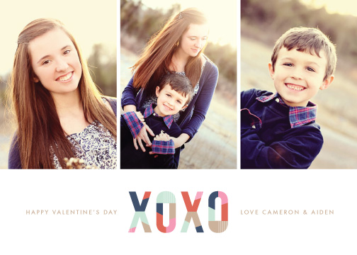 valentine's cards - Modern XOXO by Amber Barkley