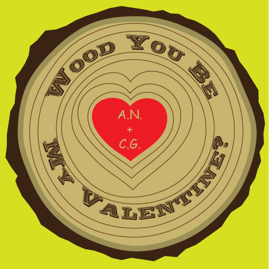 valentine's cards - Wood you? by Regan Y