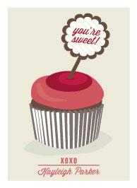 valentine's cards - Hi Cupcake