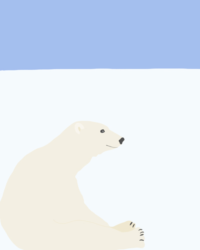 art prints - Polar Bear by Jorey Hurley