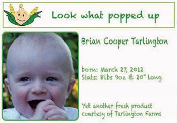 Farm Fresh Birth Announcements