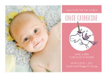 Unicorn Magic Birth Announcements