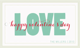 valentine's cards - love is all you need