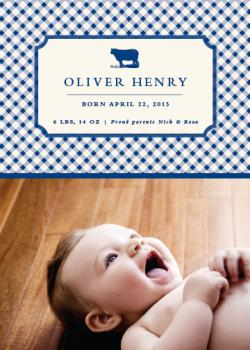 Little boy blue Birth Announcements