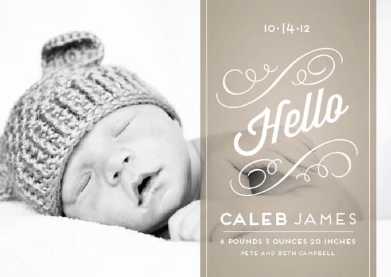 birth announcements - Heirloom Scroll by Cheer Up Press