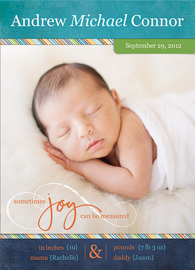 birth announcements - Measured Joy by Jessica Sprague