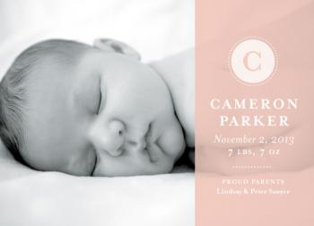 Sheer Love Birth Announcements