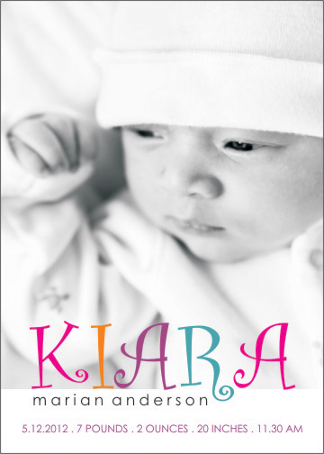 birth announcements - baby girl by Shaz