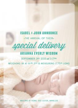 Special Everly Birth Announcements
