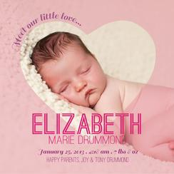 Our Little Love Birth Announcements