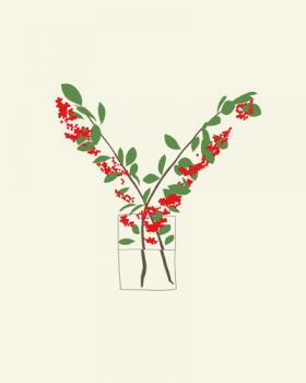 Red berries Art Prints