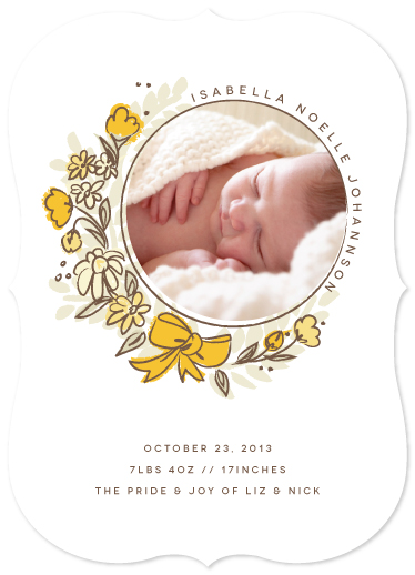 birth announcements - Born Bouquet by Snow and Ivy