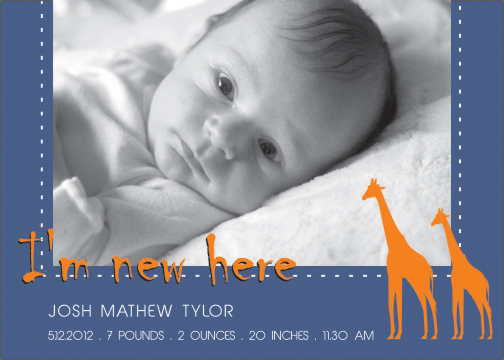 birth announcements - New born baby by Shaz