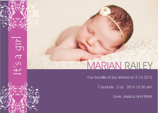 birth announcements - Bliss baby girl  by Shaz