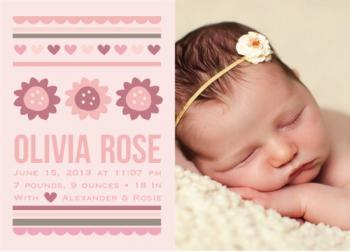 Olivia Rose Birth Announcements