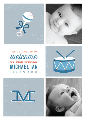 birth announcements - Picture Blocks by Katie Wahn