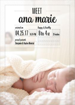 Meet me!  Birth Announcements