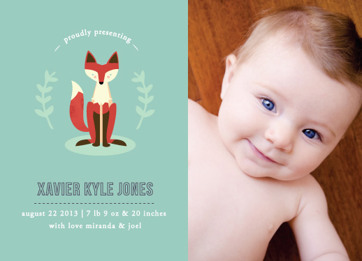 birth announcements - Little Fox by Bonjour Berry