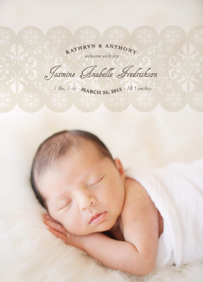 birth announcements - Wrapped In Lace by fatfatin