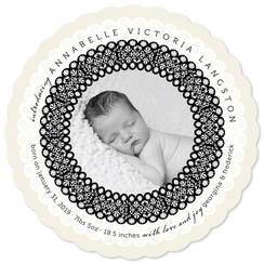 Circle Of Lace Birth Announcements