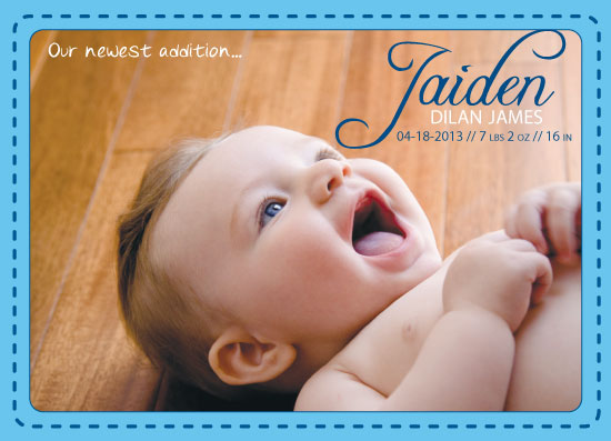 birth announcements - New Addition - Stitching by MediaKreations