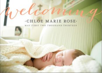 chloe  Birth Announcements