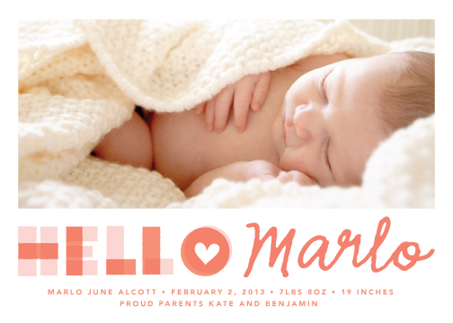 birth announcements - A Heartfelt Hello by annie clark